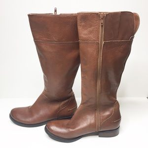 Nine West Brown Leather Knee High Riding Boots